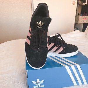 Adidas gazelle black and pink